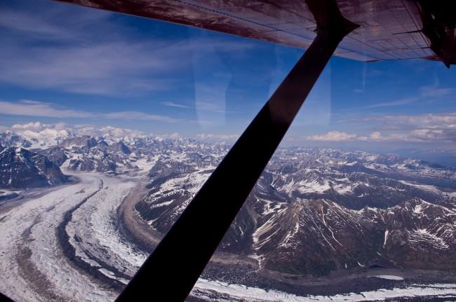 Alaska Glacier on Flight Tour