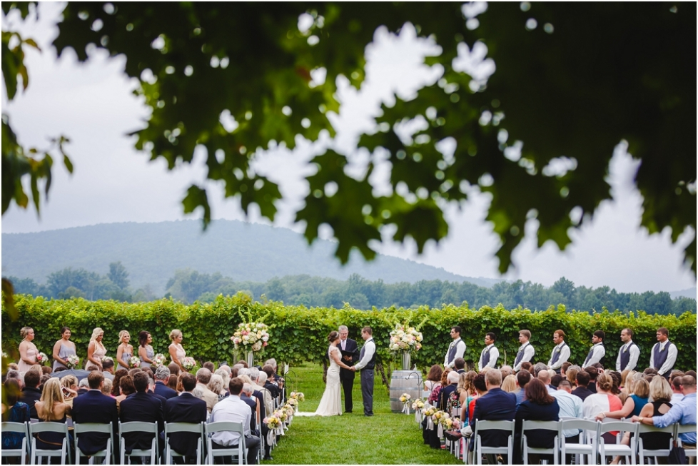 Amy And Michael S Keswick Vineyard Wedding